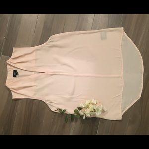 V neck blouse sleeveless